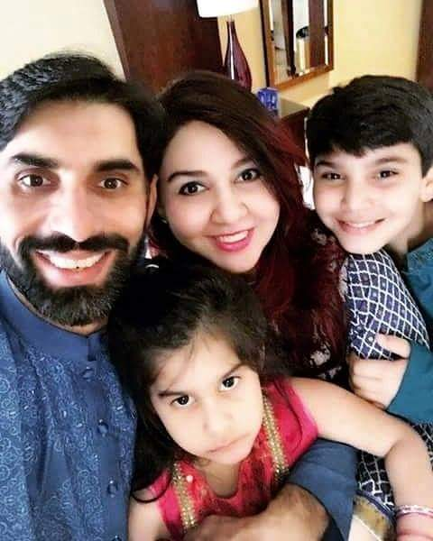 Champion Misbah ul Haq With His Family
