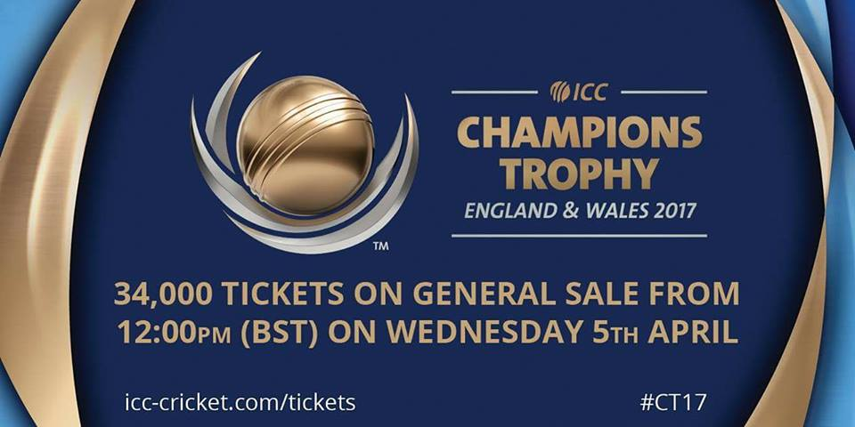 Champions Trophy Tickets Will Be On General Sale
