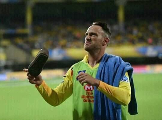 Chennai Welcomed IPL By Throwing Shoe To Faf Du Plesis