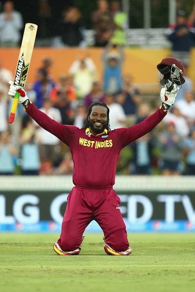 Chris Gayle Hit Highest Cricket World Cup score 215
