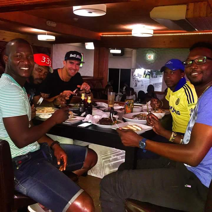 Chris Gayle Treat To Players At His Own Restaurant