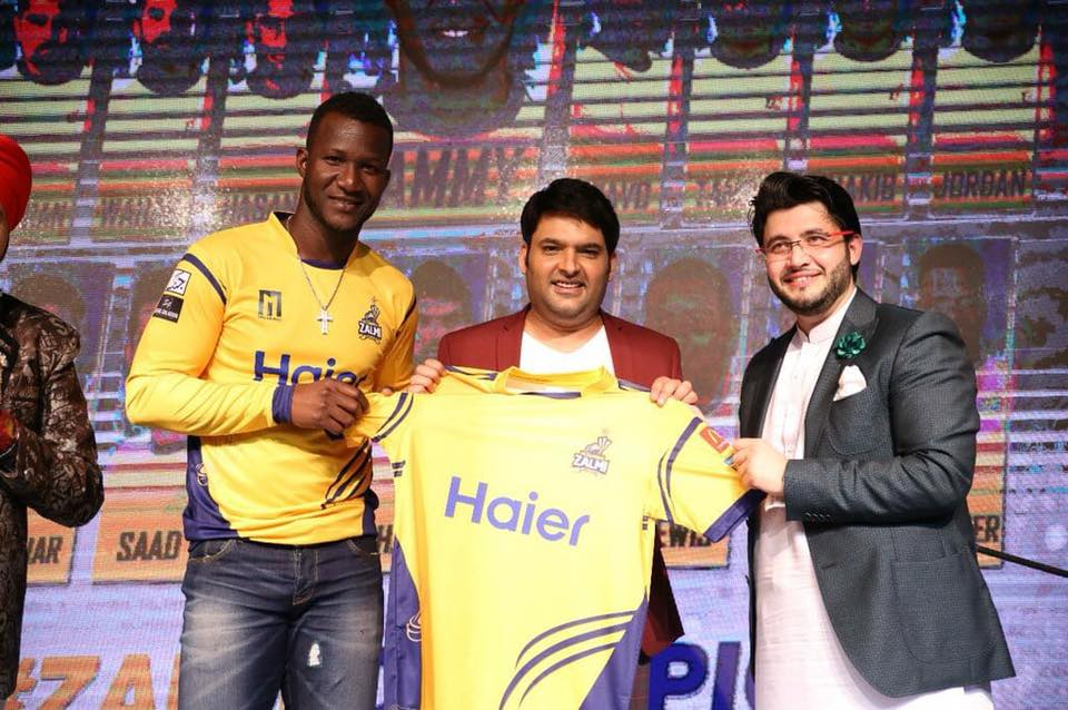 Comedian Kapil Sharma With Peshawar Zalmi Skipper & Owner