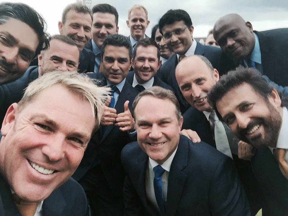 Commentators Selfie For Champions Trophy