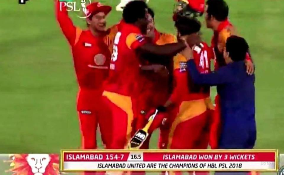 Congratulations To Islamabad United On Becoming The Champions Once Again