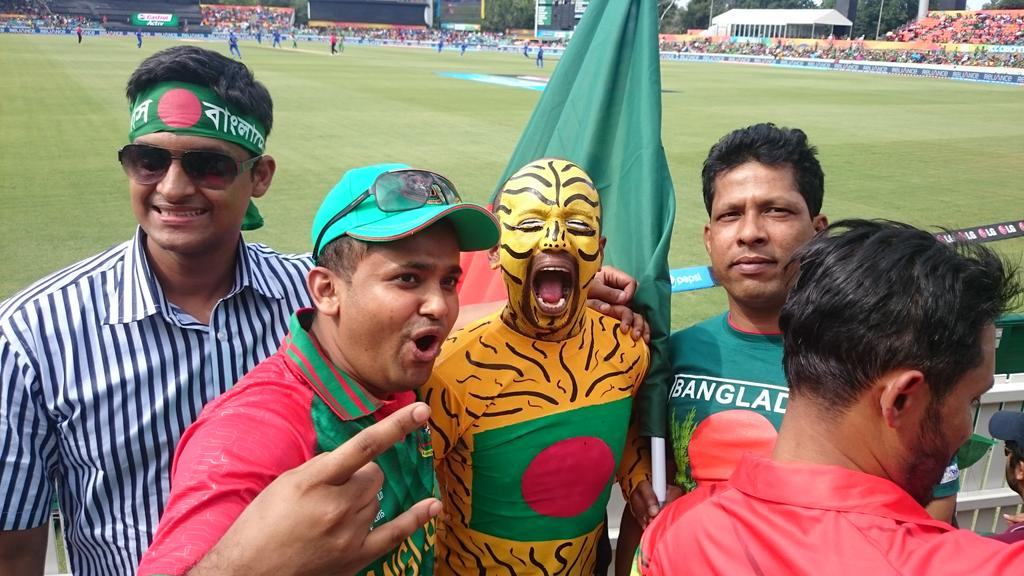 Crazy Bangladeshi Cricket Fan Painted