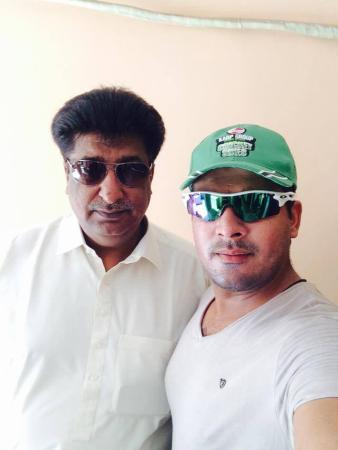 Cricketer Sharjeel With His Father
