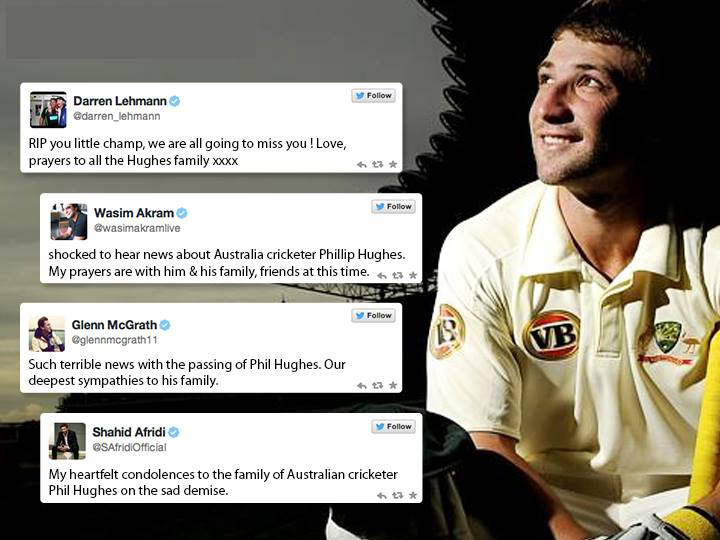 Cricketers Tweet On Phil Hughes Death