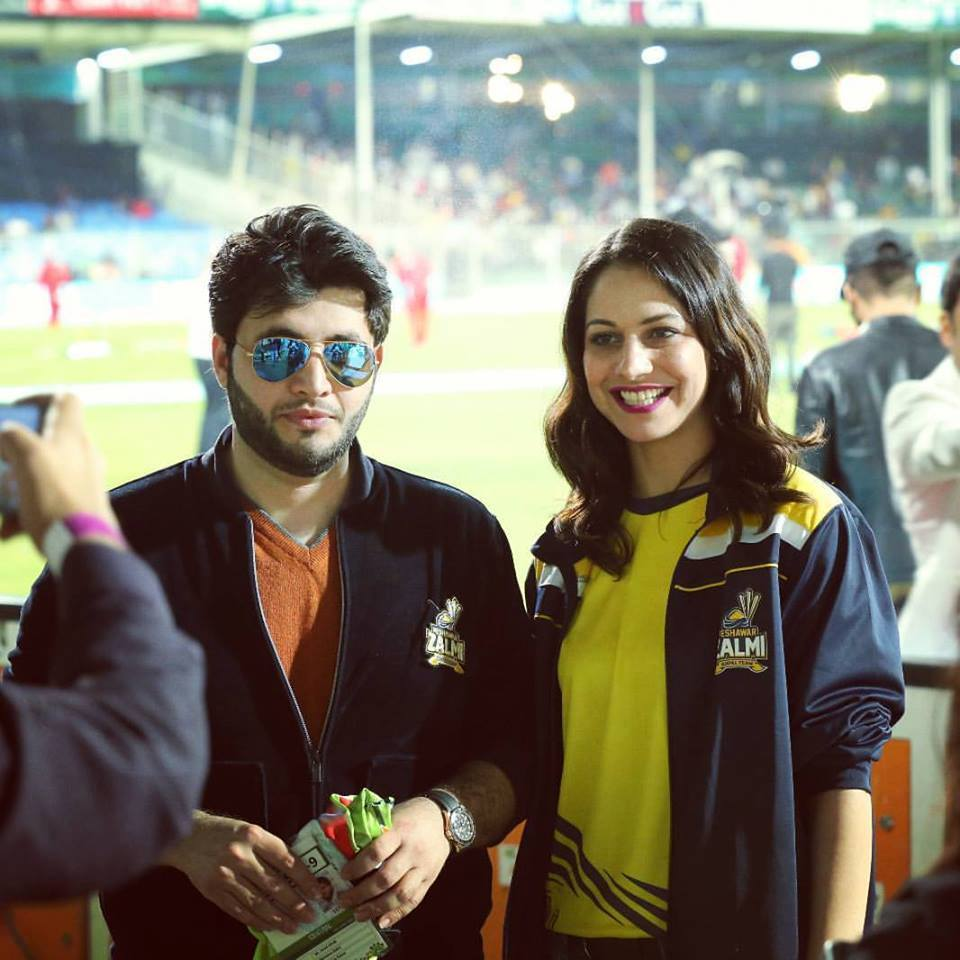 Cybil j Chowdhry with Javed Afridi