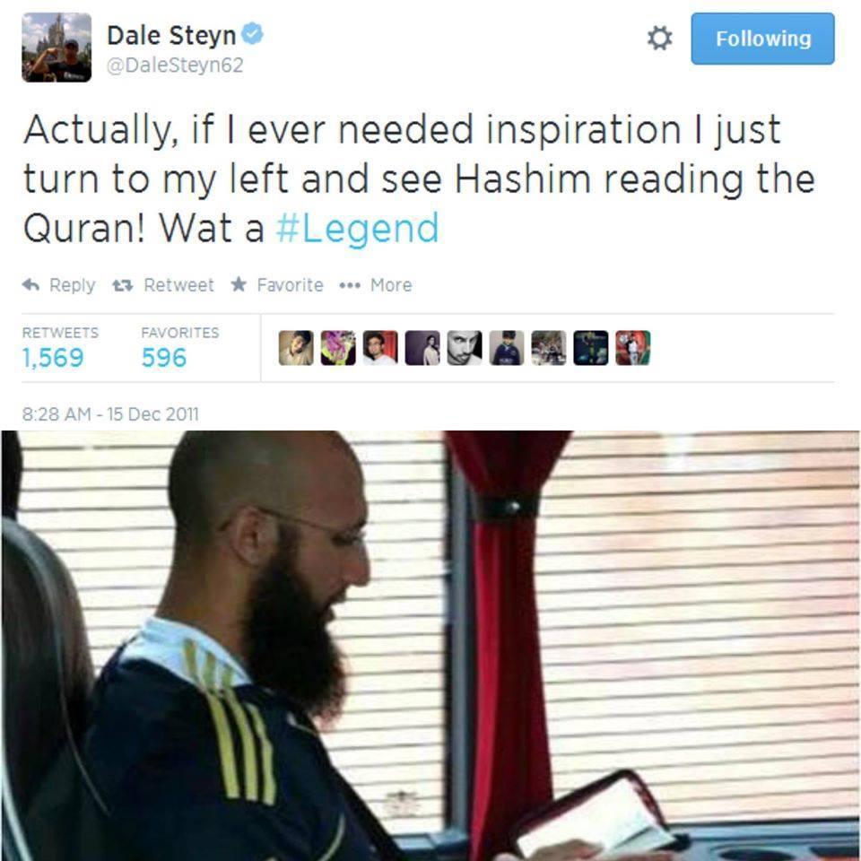 Dale Steyn About Hashim Amla