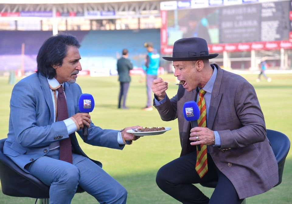 Danny Morrison Enjoying Gola Kabab At National Stadium