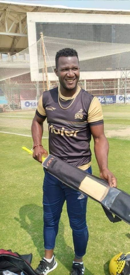 Daren Sammy During Practice Session At National Stadium Karachi