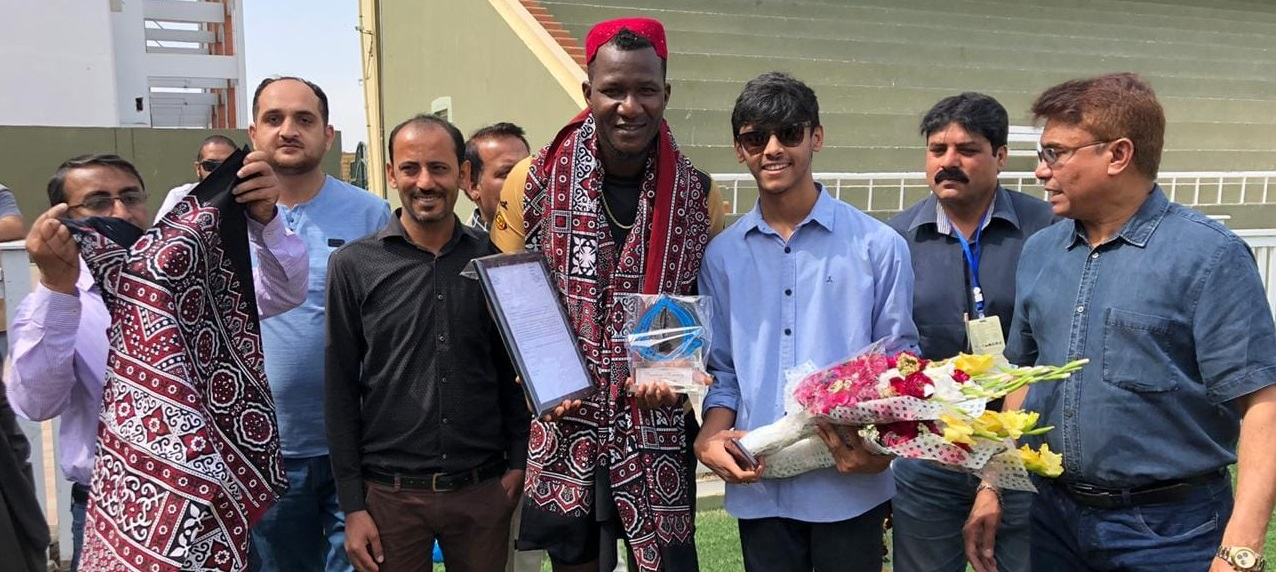 Daren Sammy Khan Awarded Honorary Life Time Membership By Karachi Press Club