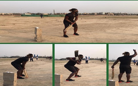 Darren Sammy Playing Tape Ball Cricket With Local Boys Of Peshawar