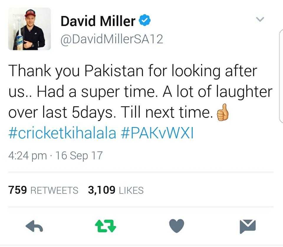 David Miller Tweets