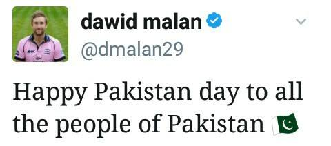 Dawid Malan About Pakistan Day