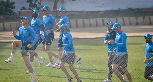 Day Two: South African Test Team Practice Session At Karachi Gymkhana