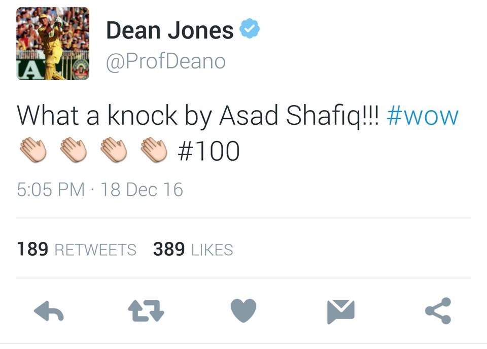 Dean Jones Tweet