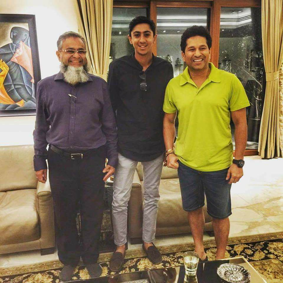 England Rising Star Haseeb Hameed With Sachin Tendulkar