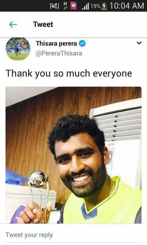 Excellent Performance Thisara
