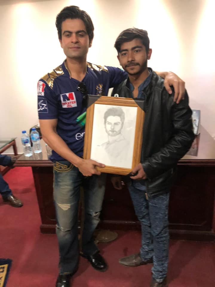 Fan Gifted A Sketch To Quetta Gladiator's Batsman Ahmed Shehzad