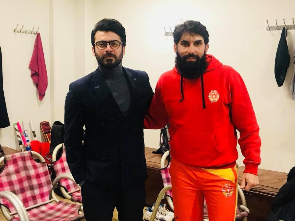 Fawad Khan At Cricket Match Between Islamabad United & Quetta Gladiators