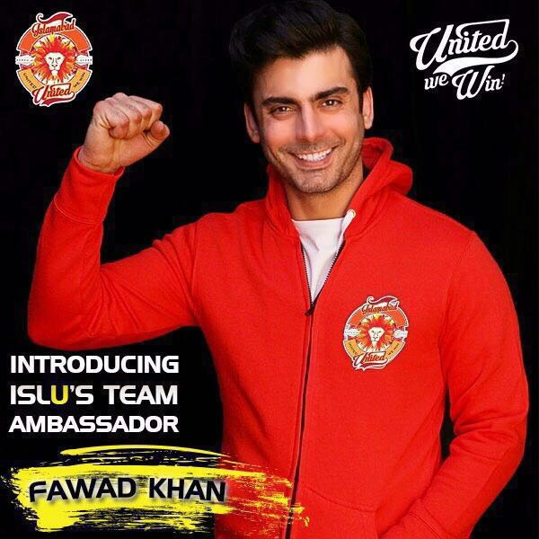 Fawad Khan Has Become Ambassador Of Islamabad United In PSL