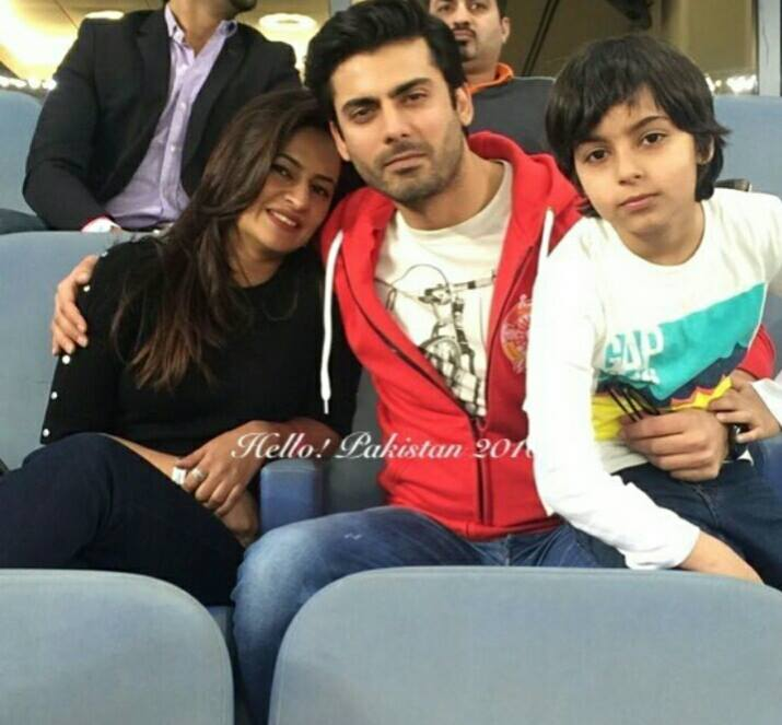 Fawad Khan with family at the launch of ‪‎PSL‬ dubai