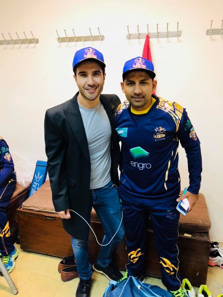 Feroze Khan With Quetta Gladiators Captain Sarfraz Ahmed