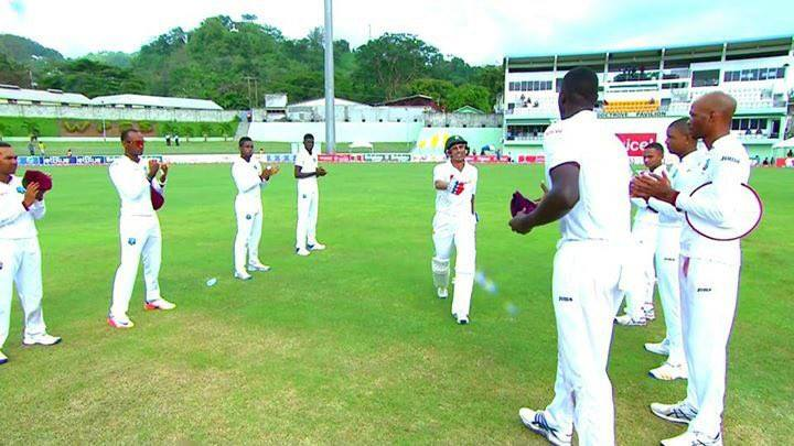 Guard Of Honor For Younis Khan By West Indies Players