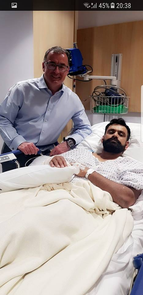 Hafeez's Thumb Surgery Has Been Done Successfully