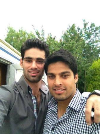 Hammad Azam with Umer Amin - Cricketers from Rawalpindi