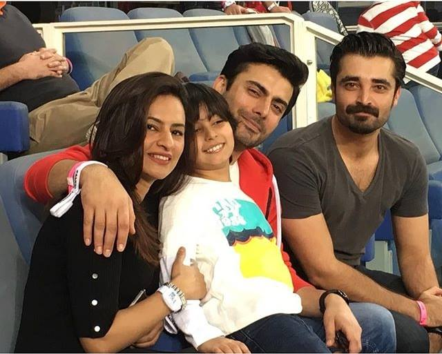 Hamza Ali Abbasi & Fawad Khan with family at ‪PSL‬ opening ceremony