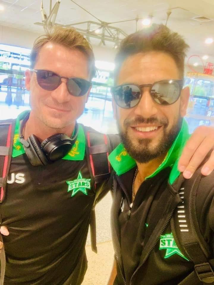 Haris Rauf With Dale Steyn