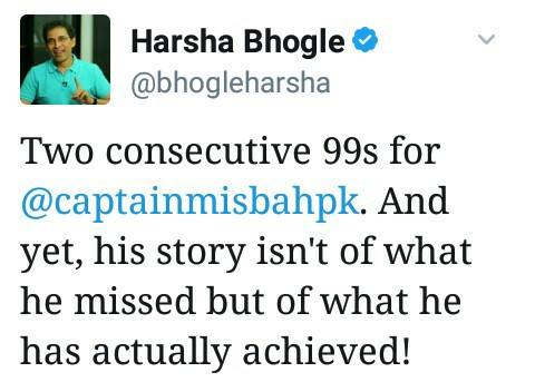 Harsha Bhogle For Captain Misbah