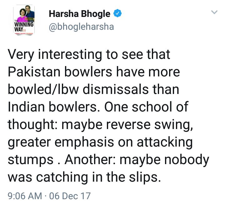 Harsha Bhogle Tweet