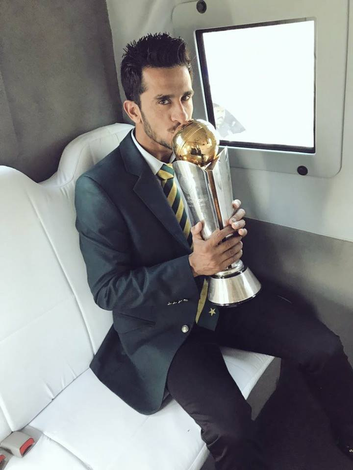Hasan Ali With Champions Trophy