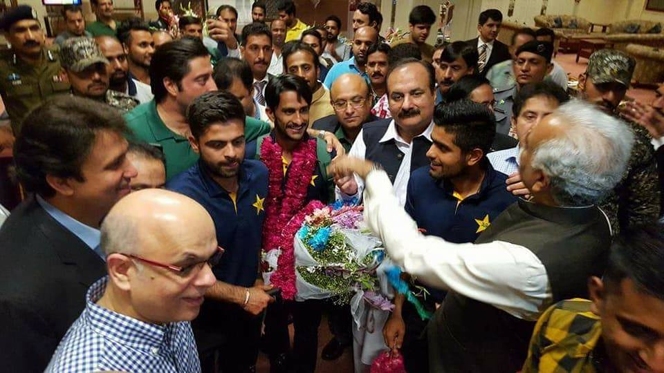Hassan Ali Arrived at Lahore