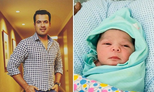 Here Is The First Look Of Sharjeel Khan's Cute Little Daughter