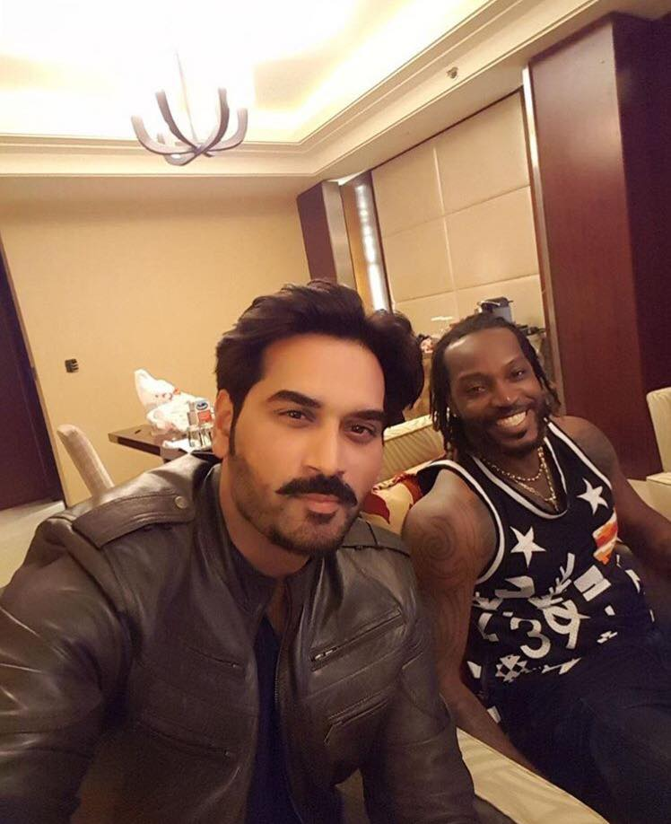 Humayun Saeed With Chris Gayle