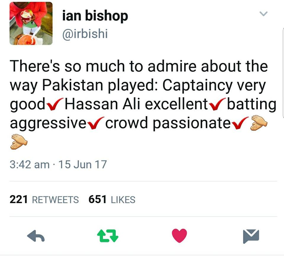 Ian Bishop Tweet