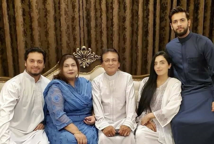 Imad Wasim With Family