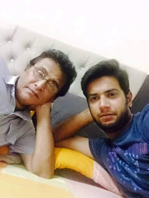 Imad Wasim With His Dad