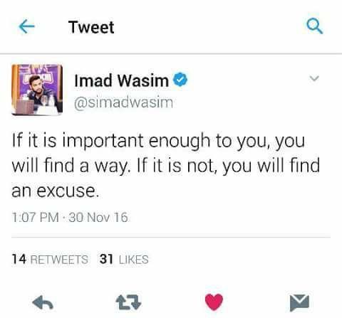 Imad's Tweet