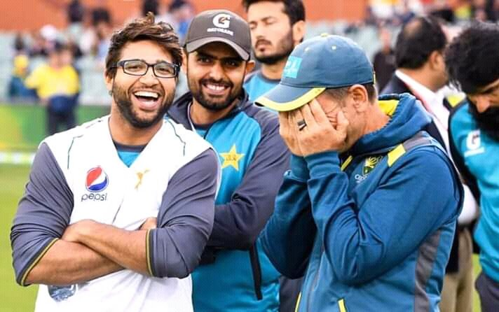 Imam Ul Haq And Babar Azam Shared Lighter Moments With Australian Coach Justin Langer.