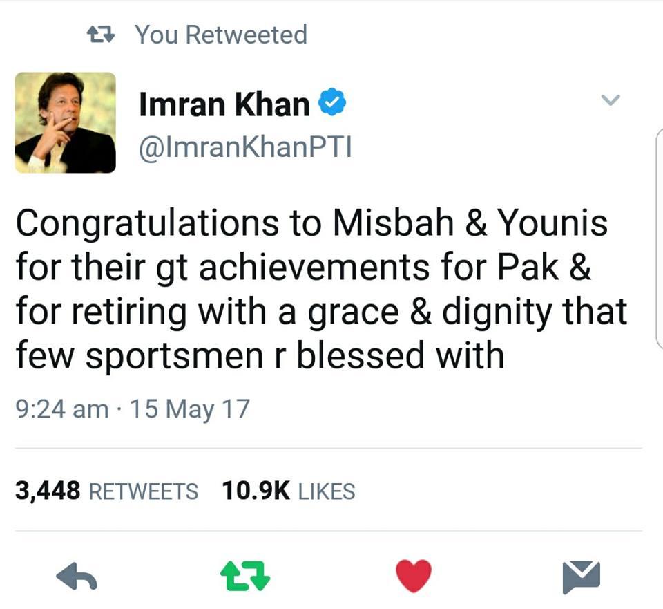Imran Khan Tweet
