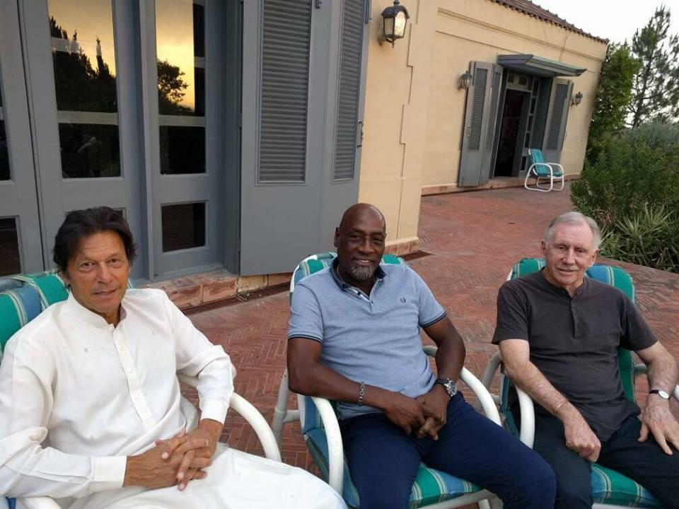 Imran Khan, Viv Richards & Ian Chappell