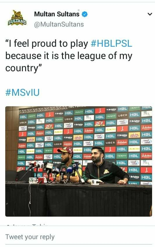 Imran Tahir Tweeted About To Be A Part Of PSL