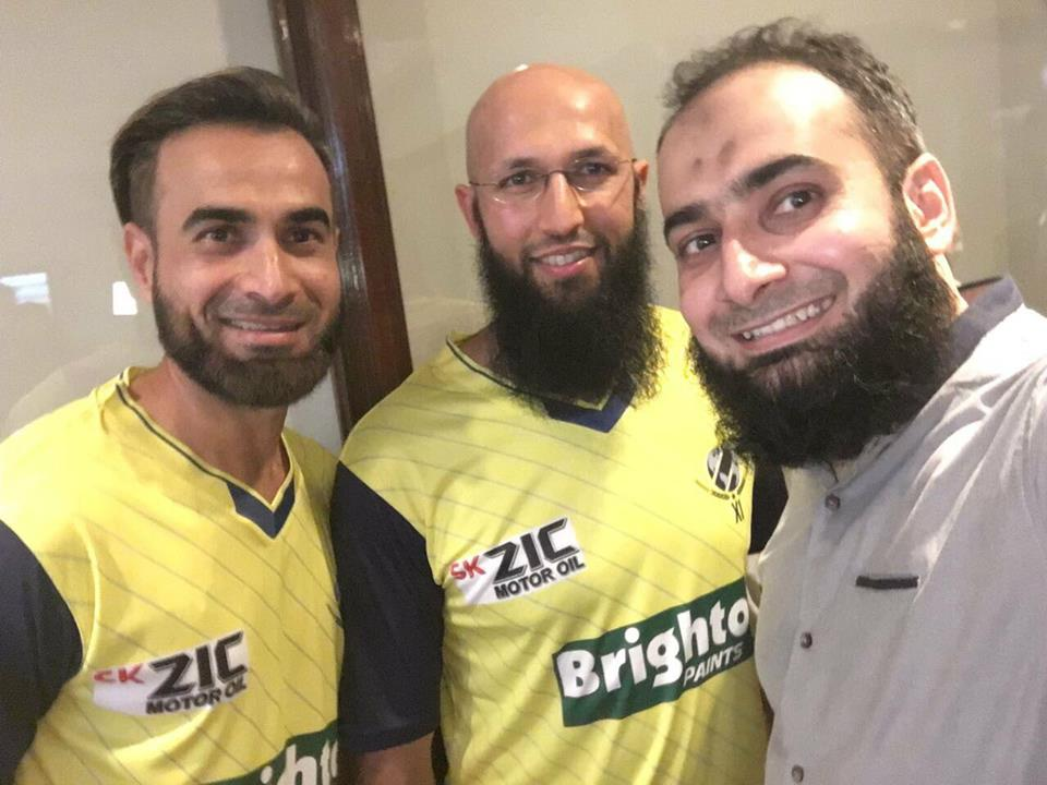 Imran Tahir With His Brother Salman & Hashim Amla