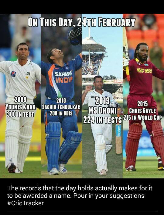 Interesting Cricket Records of 24th February