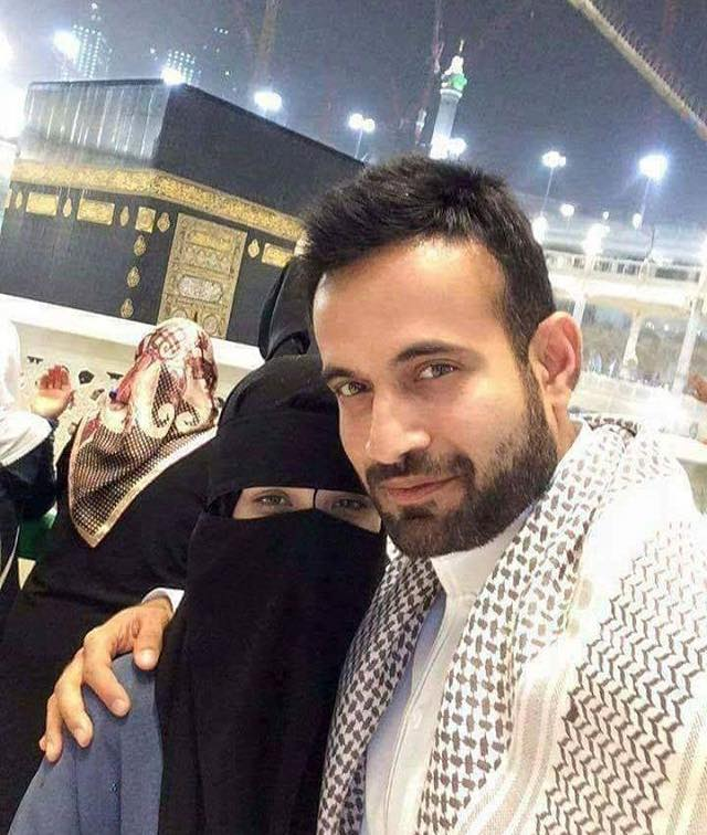 Irfan Pathan With His Wife During Umrah